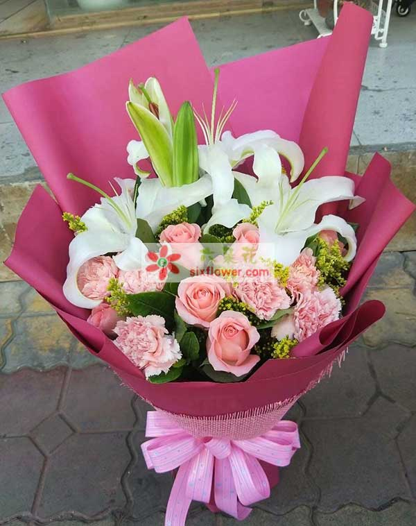 送天津蓟州州河湾广场三楼尚品宅配的花