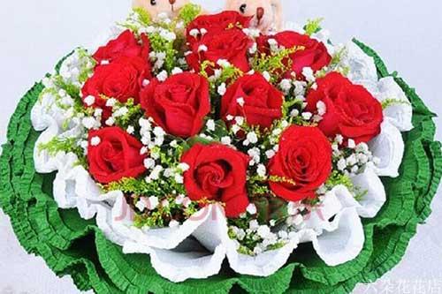 代表真诚的爱送什么花