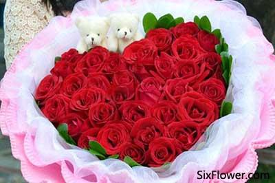 520送花之33朵玫瑰花推荐!