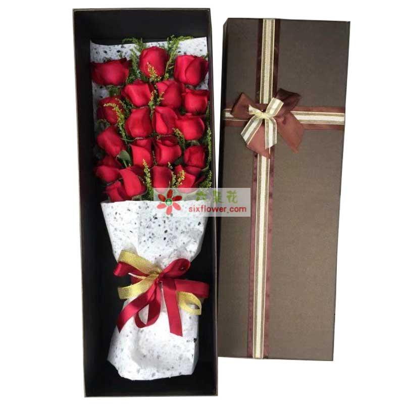 19枝红色玫瑰