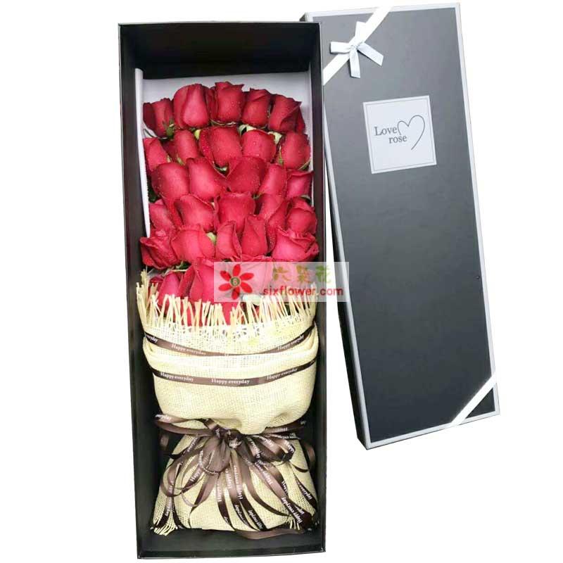 33枝红色玫瑰
