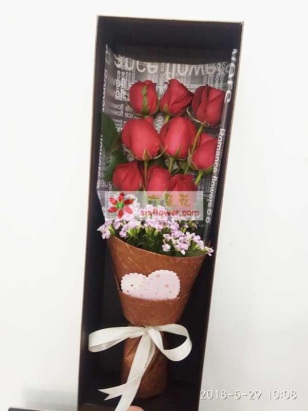 送枣庄滕州杏坛路附近的花