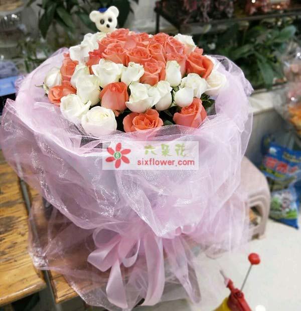 送重庆市奉节县滨江国际A6的花