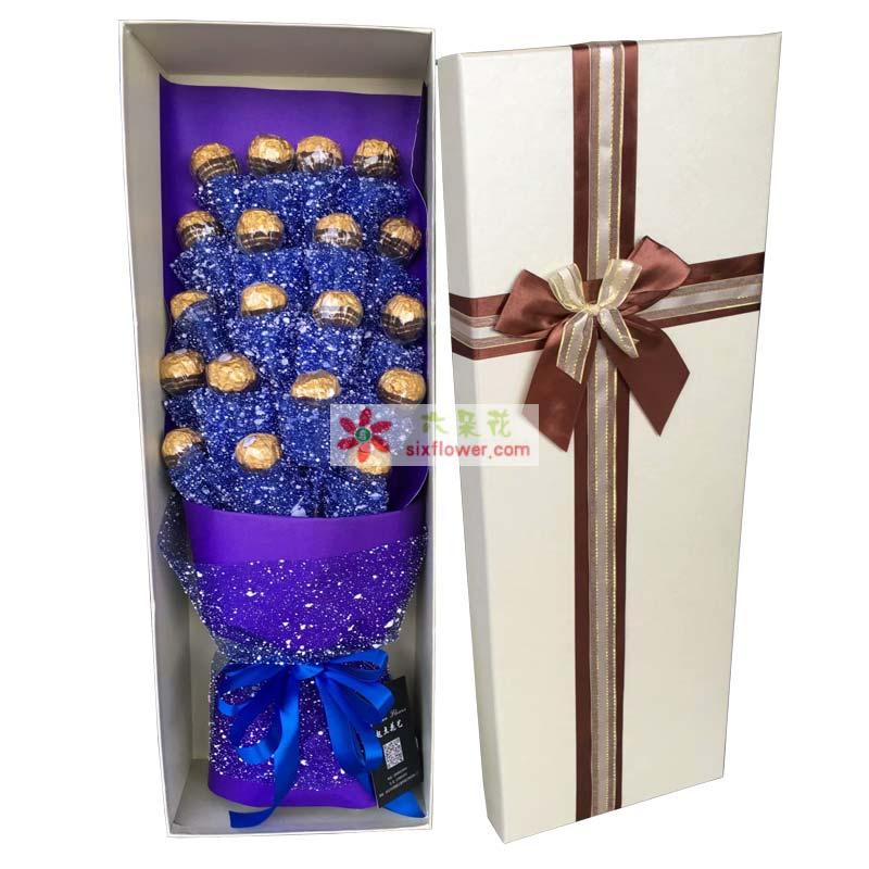 19颗巧克力,单个包装