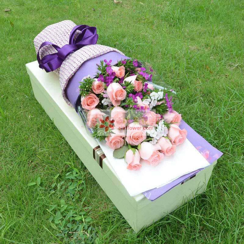 19枝戴安娜玫瑰,相思梅丰满