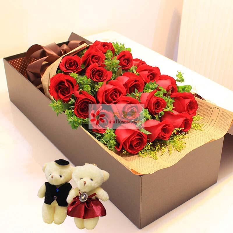 20枝红玫瑰,黄英丰满