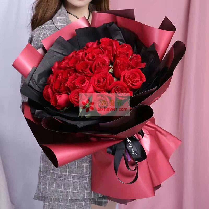 27枝红玫瑰