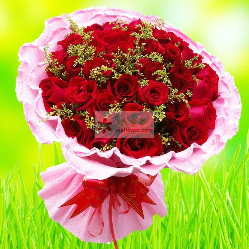 21朵红玫瑰,黄英丰满