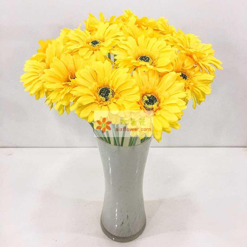 16朵黄色扶郎花