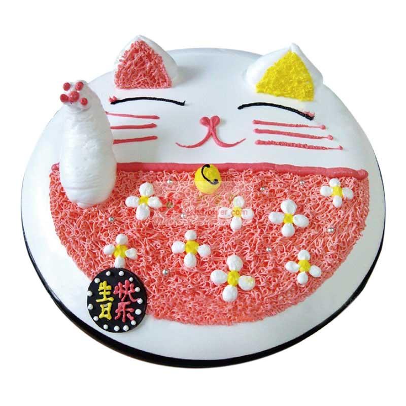 8寸可爱猫蛋糕