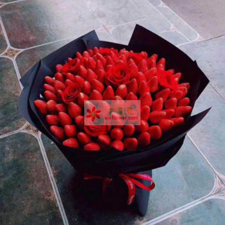 99颗草莓,9朵红玫瑰
