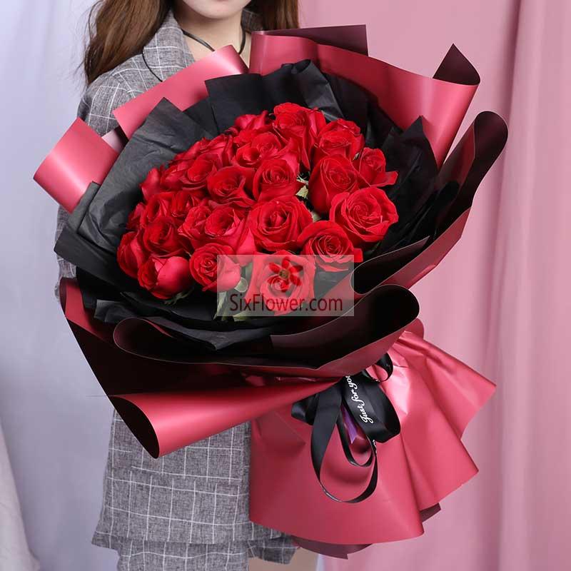 35朵红玫瑰;