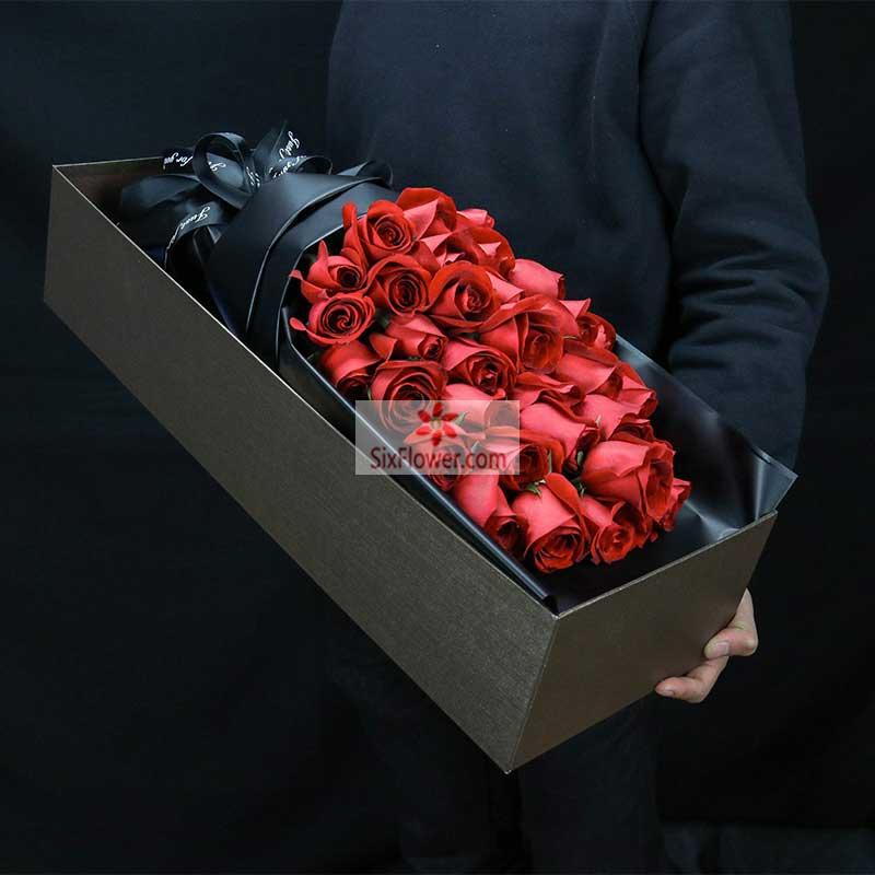 33朵红色玫瑰