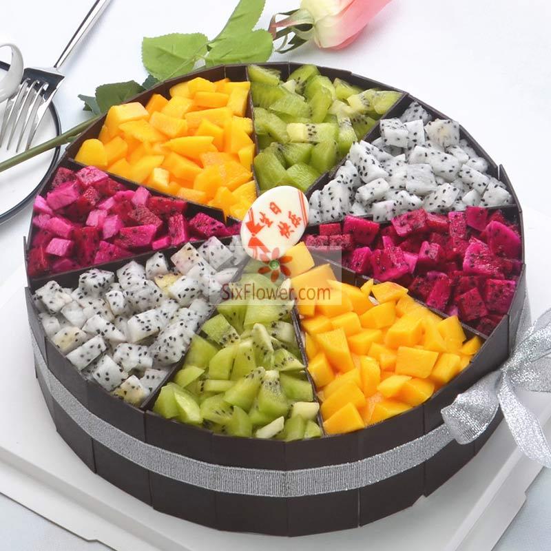 8寸圆形水果蛋糕(水果以时令水果为主)