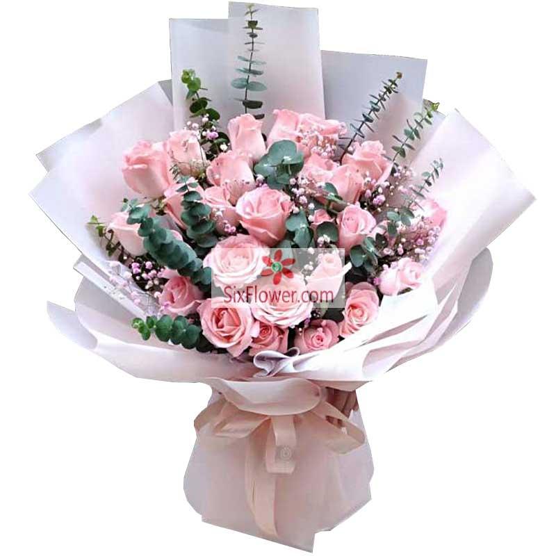 52朵戴安娜粉玫瑰