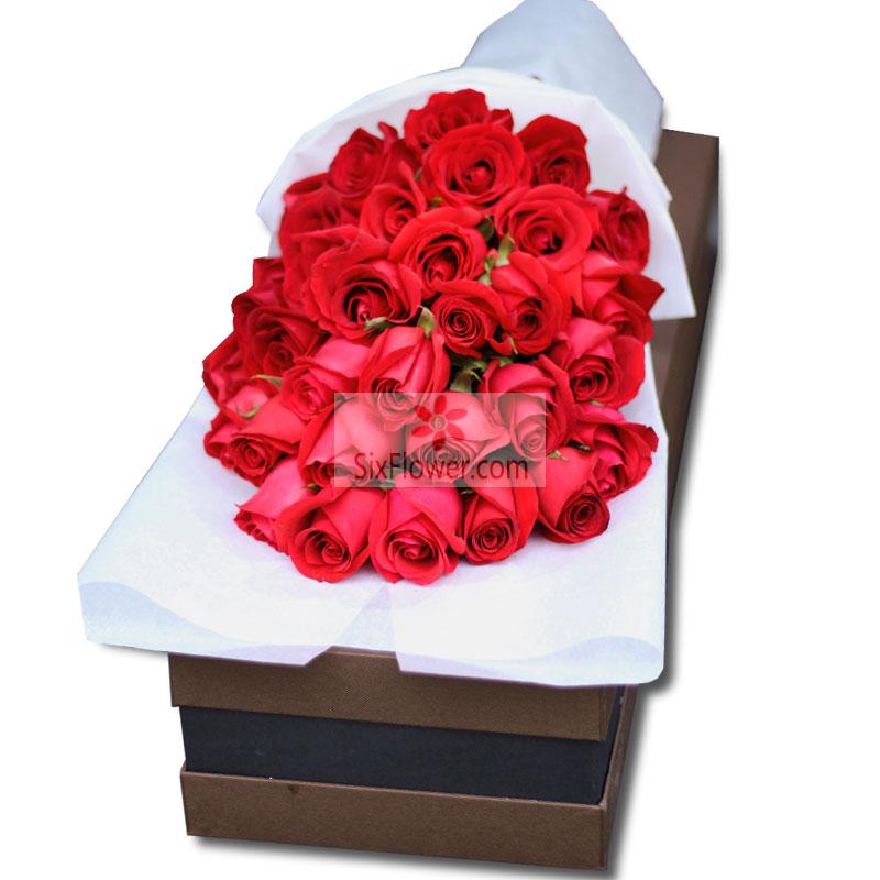 30朵红玫瑰