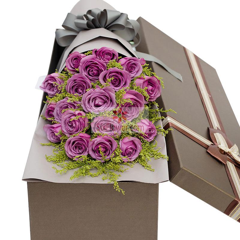 19朵紫玫瑰,黄英丰满