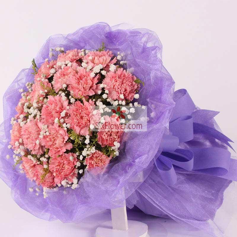 19朵粉色康乃馨,祝您桃李满天下