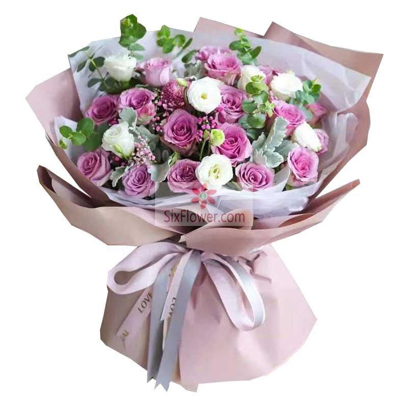 19朵紫玫瑰,10朵桔梗,永远永远把你爱