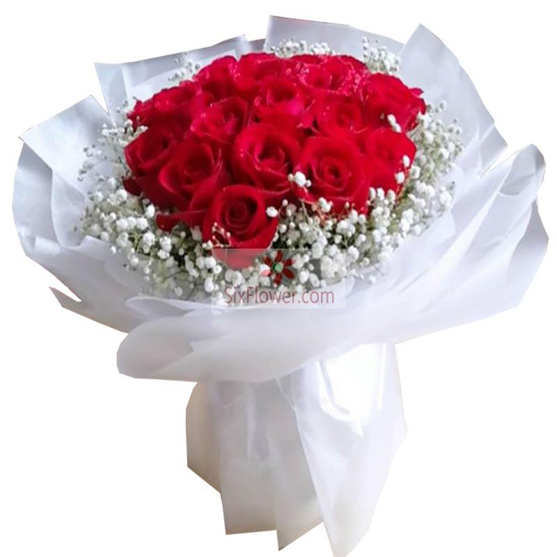 19朵红玫瑰,你的美丽侵润我