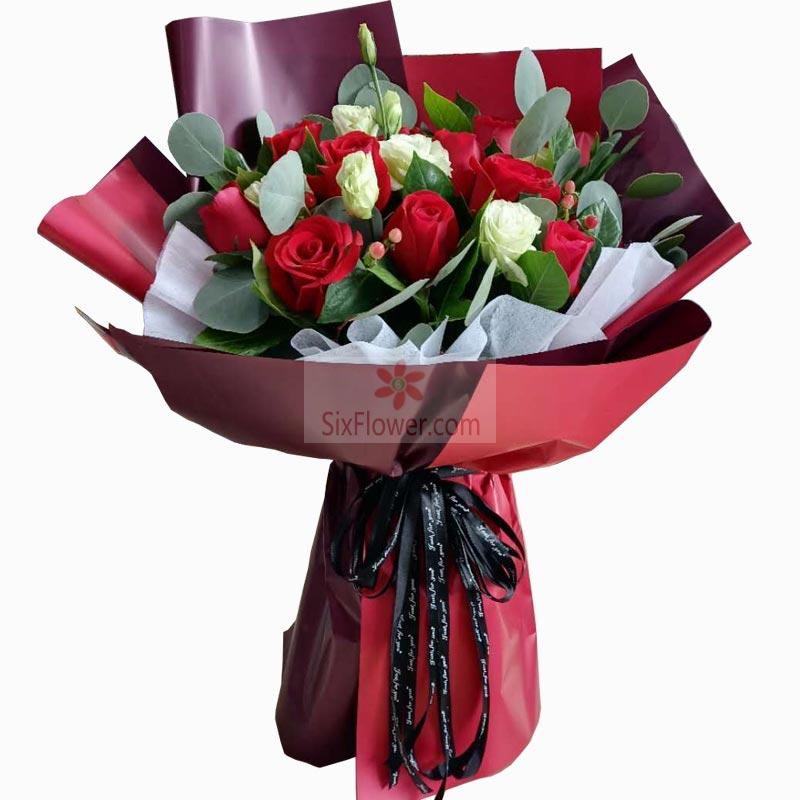 11朵红玫瑰,5朵桔梗,我永远爱你