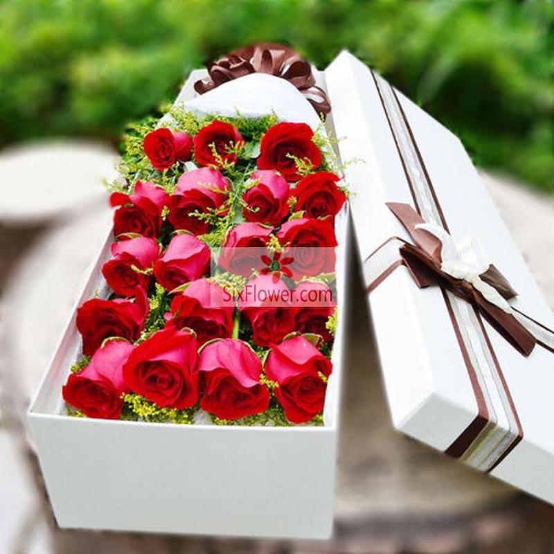 19朵红玫瑰礼盒,给你特别的爱
