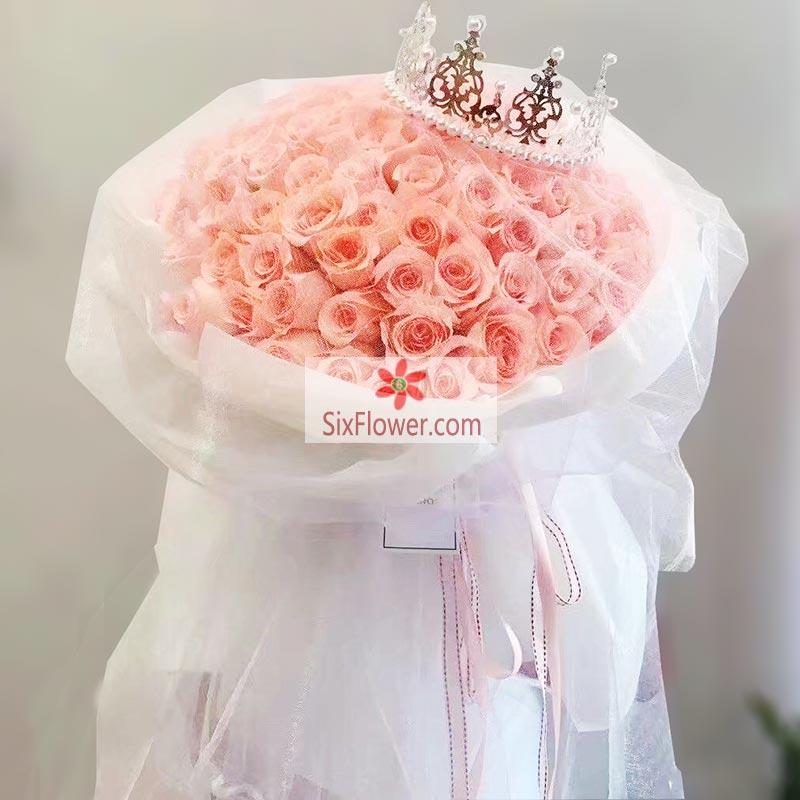 99朵戴安娜粉玫瑰,最美的恋人