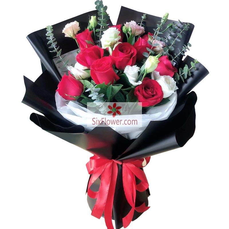 9朵红玫瑰,9朵桔梗,简单幸福的爱情