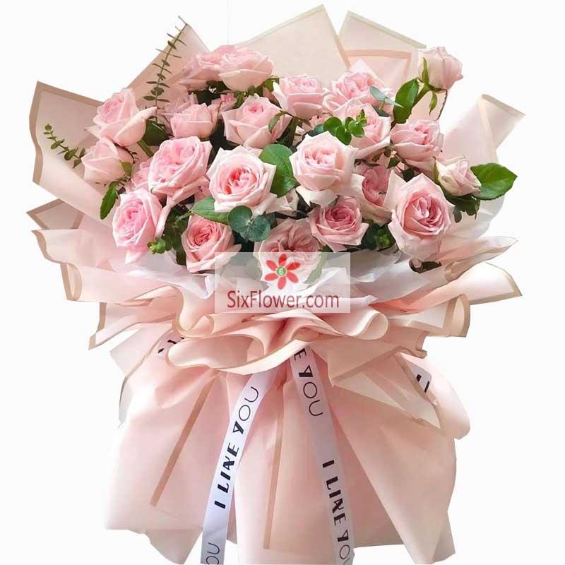 21朵戴安娜粉玫瑰,世上最美的情感