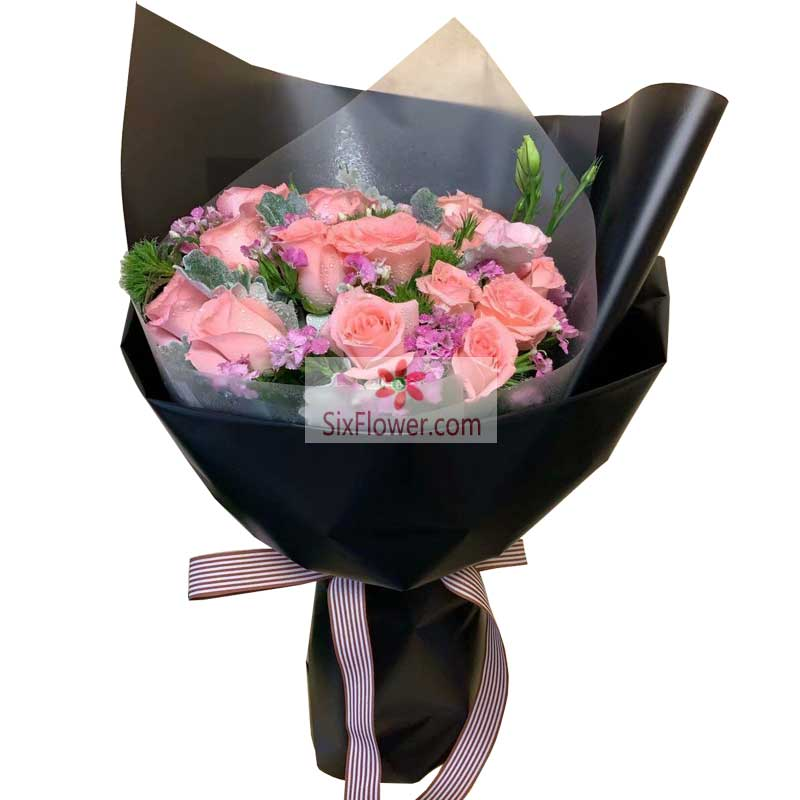 15朵戴安娜粉玫瑰,能原谅我吗
