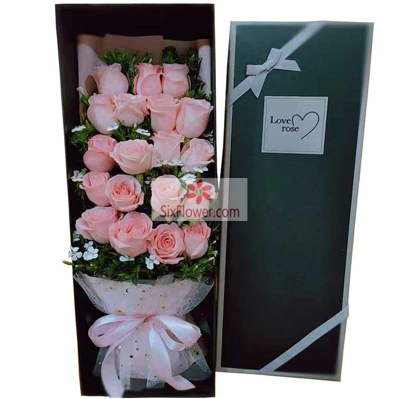 19朵戴安娜粉玫瑰,爱与幸福的无限延长