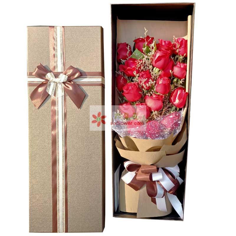 19朵红玫瑰,想你时幸福的