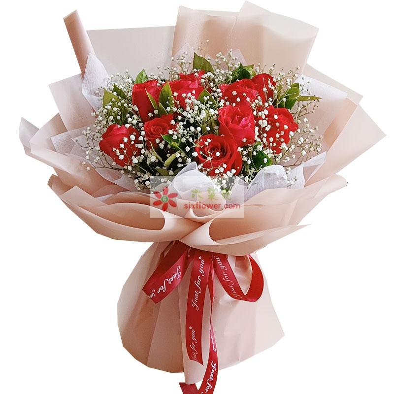 11朵红玫瑰,心甘情愿最爱你