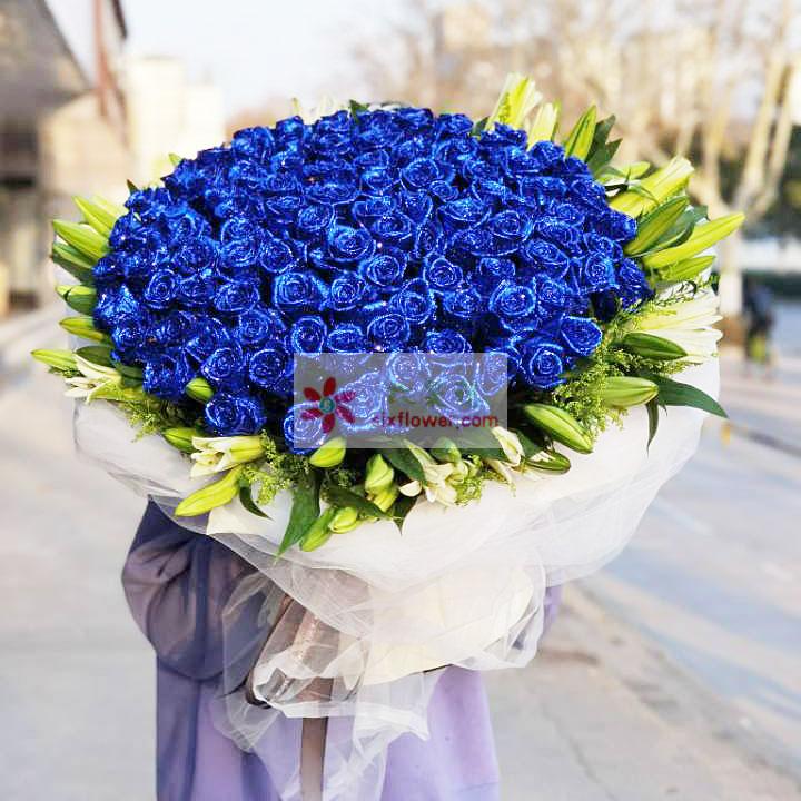 100朵蓝玫瑰,我的爱人