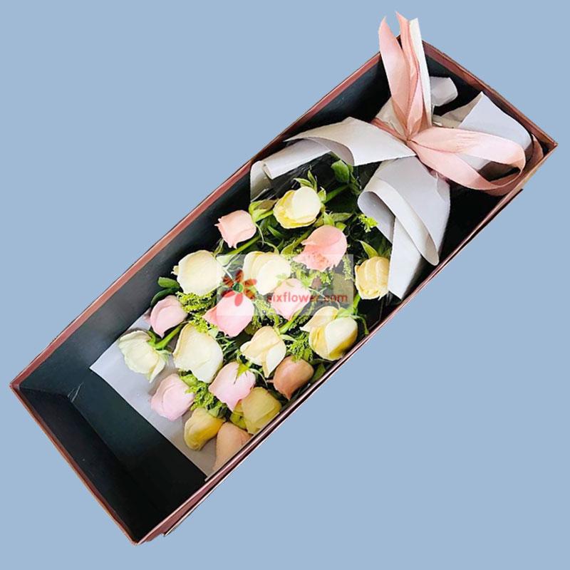 19朵玫瑰礼盒,暖暖的心