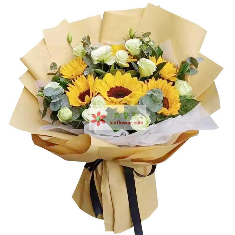 6朵向日葵,一生幸福
