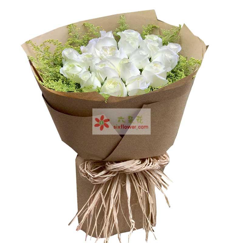 19朵白玫瑰,我一直爱着你
