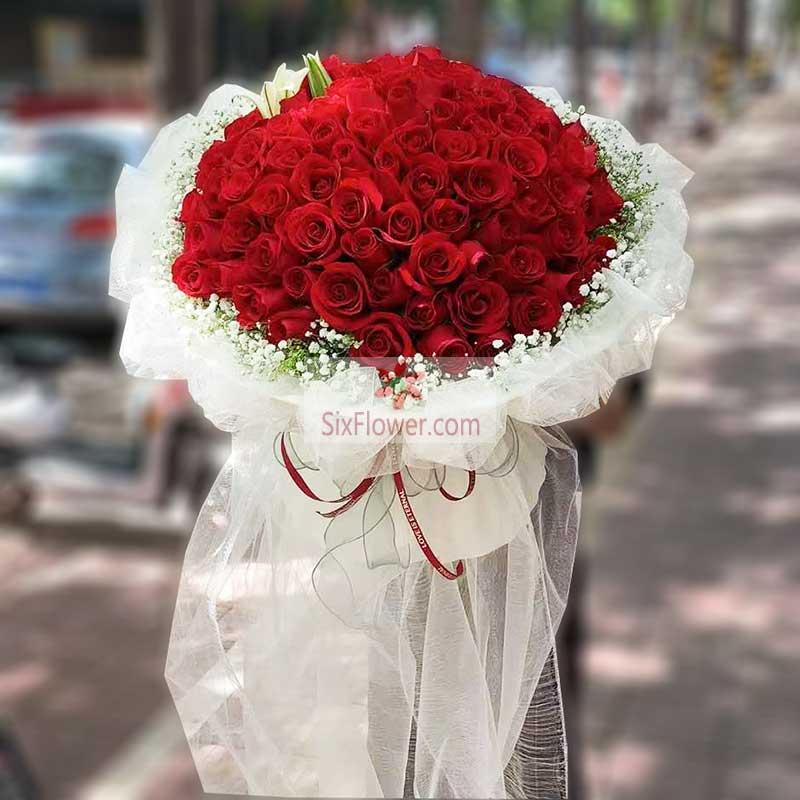 199朵红玫瑰,和你开启最美生活