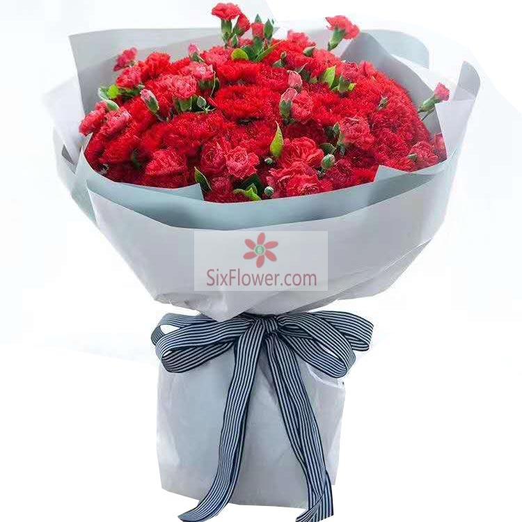 33朵红色康乃馨,一生平安幸福
