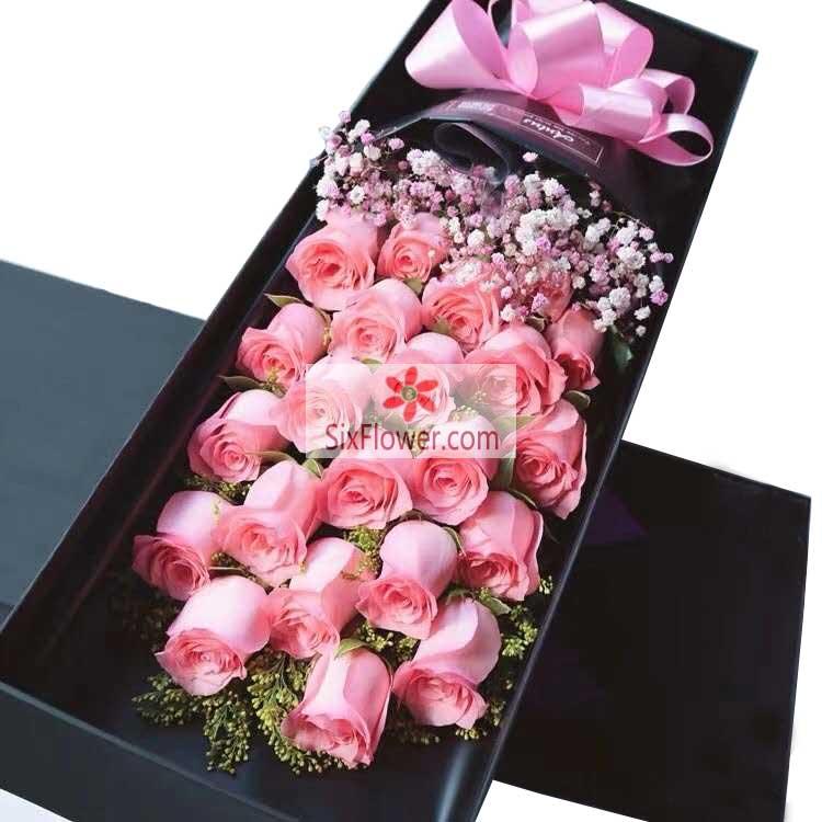 21朵戴安娜粉玫瑰,喜欢每一天的你