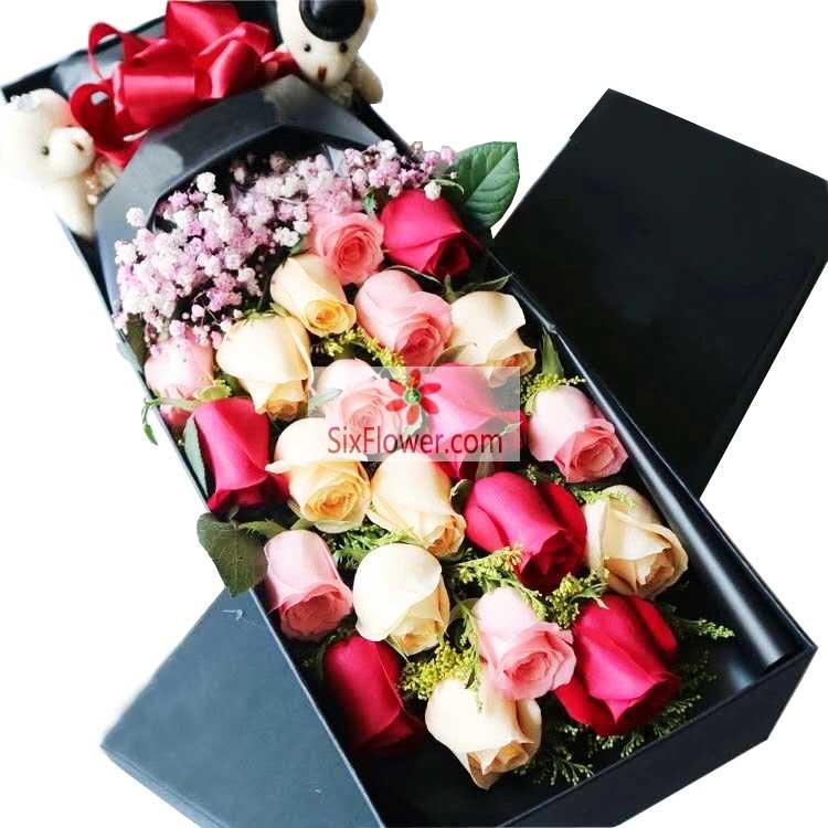 20朵玫瑰礼盒,我只要你