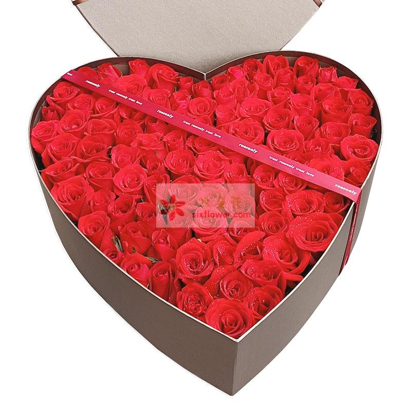 99朵红玫瑰礼盒,最深和最重的爱