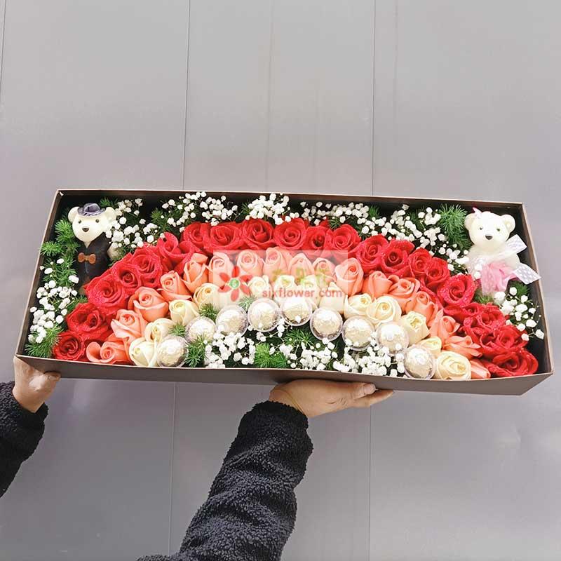 52朵玫瑰礼盒,爱你成了习惯