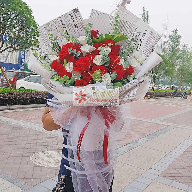 29朵红玫瑰桔梗,爱你永远都不够