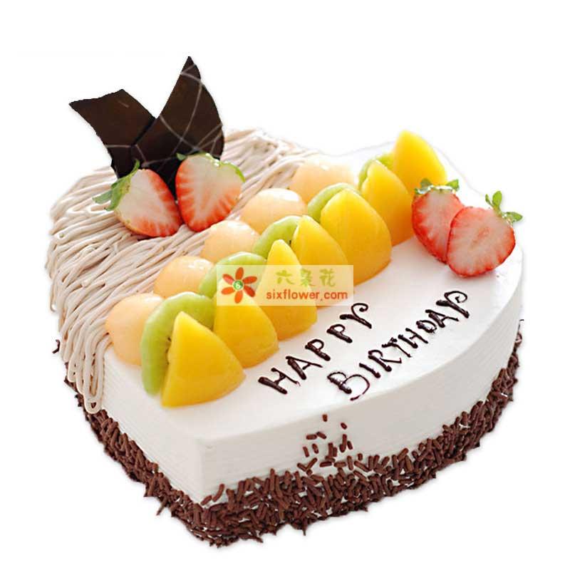 8寸心形蛋糕;