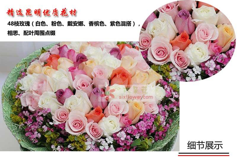 48枝玫瑰细节