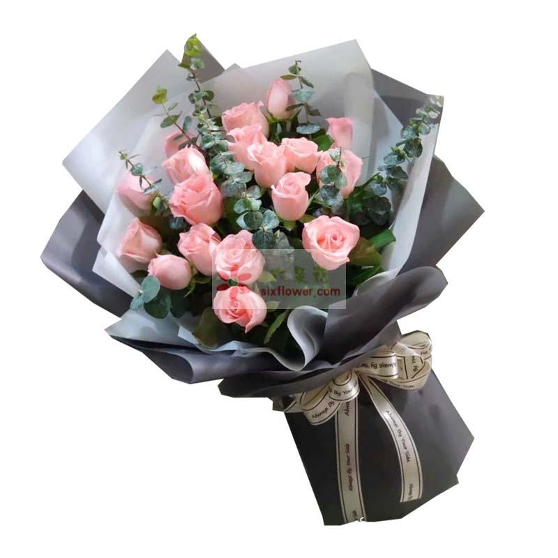 18朵戴安娜玫瑰,尤加利丰满