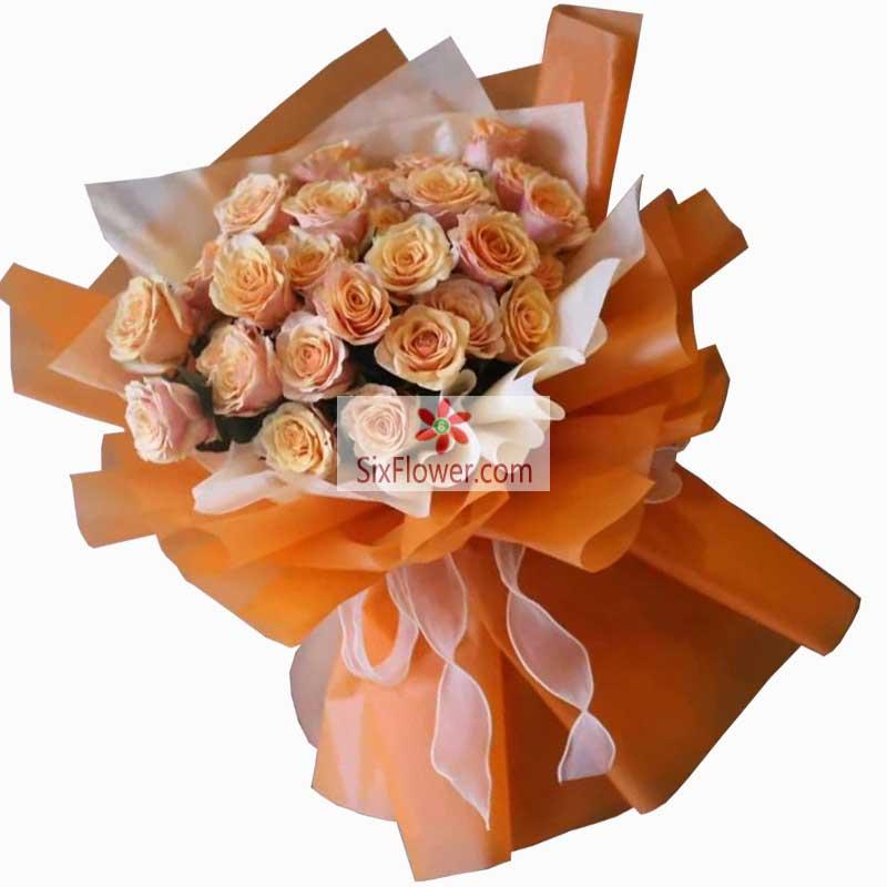 22朵香槟玫瑰,我要的爱情只有你