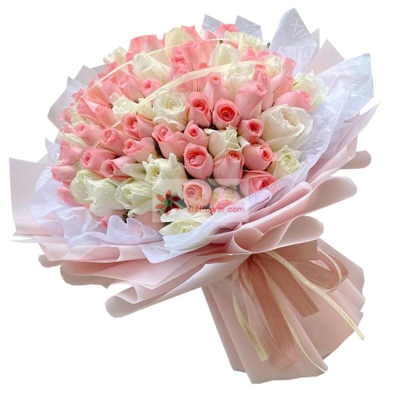 99朵玫瑰,与你一生快乐幸福随