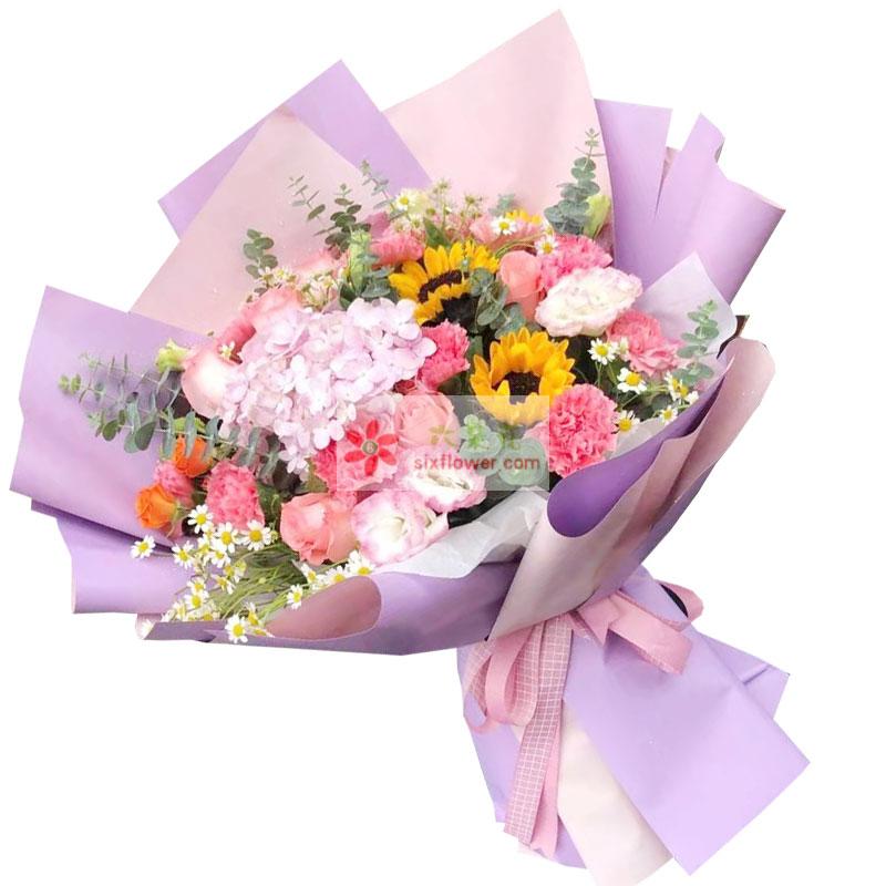 11朵戴安娜粉玫瑰,生活美满阖家欢